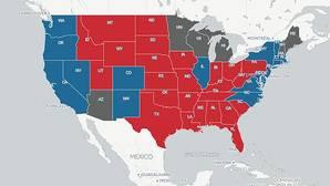 Así es el mapa de los resultados de las elecciones de EE.UU.