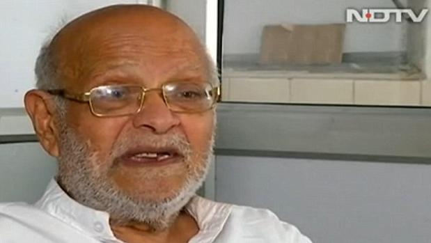El nieto de Mahatma Gandhi, Kanubhai Ramdas Gandhi, en una entrevista para NDTV
