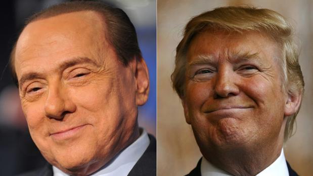 Silvio Berlusconi y Donald Trump