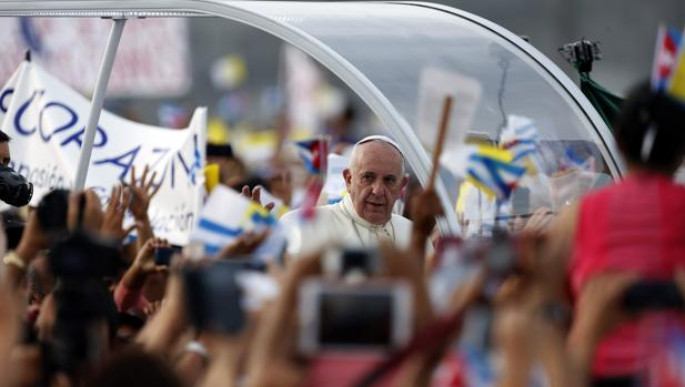El Papa Francisco, en la plaza de la Revolución, de La Habana, en septiembre de 2015