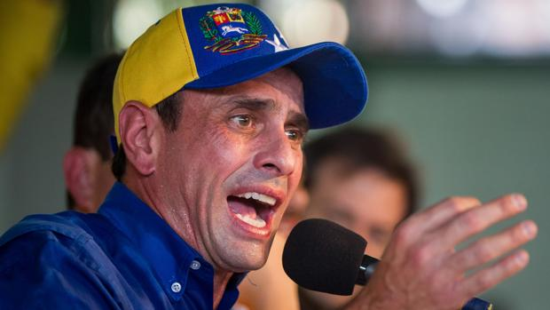 Henrique Capriles, en una reciente rueda de prensa en Caracas