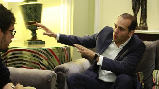 Juan Verde, durante la entrevista con ABC en el Hotel Palace