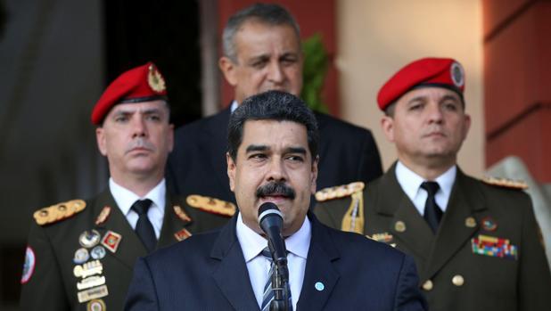 El presidente de Venezuela, Nicolás Maduro, el pasado 16 de noviembre en una reunión de la OPEC en el Palacio Miraflores, en Caracas