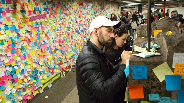 El muro de la estación de metro de Union Square