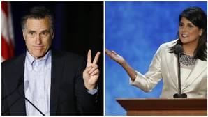 Mitt Romney y Nikki Haley, candidatos a la secretaría de Estado