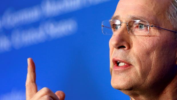 Jens Stoltenberg, durante un acto organizado este viernes en Brusleas por el «think tank» German Marshall Fund