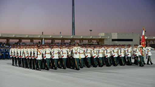 Desfile militar en Omán, este viernes en el 46 aniversario de independencia