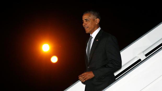 Obama, a su llegada a Lima