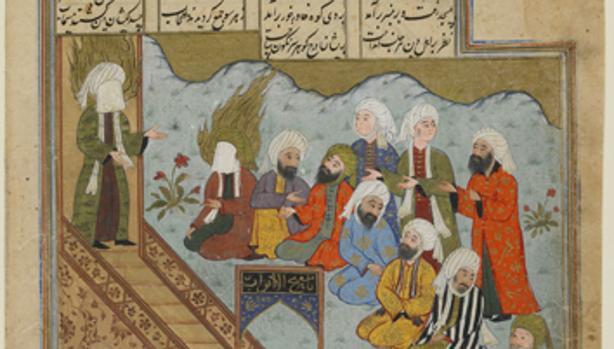 Mahoma predica después de la Batalla de la Trinchera, según un autor anónimo