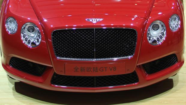 Un Bentley exhibido en el Salón del automóvil de Pekín