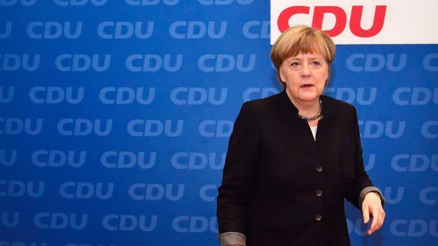 La canciller alemana, Angela Merkel, este lunes