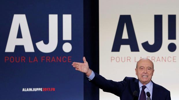 Alain Juppé en uno de sus actos de campaña