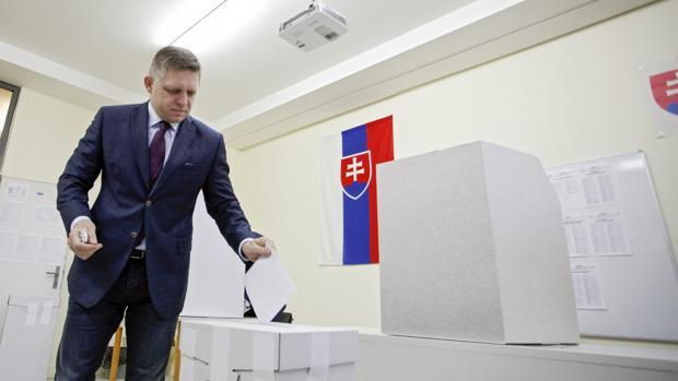 Robert Fico, primer ministro de Eslovaquia y presidente de turno de la Unión Europea