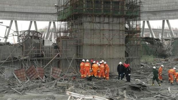 Imagen del estado de la central eléctrica china