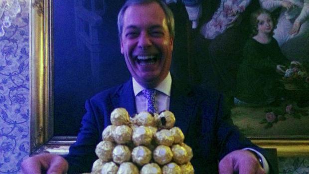 El líder interino del Partido de la Independencia del Reino Unido (UKIP), Nigel Farage
