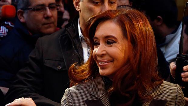 Cristina Fernández, camino del juzgado el pasado mes de julio