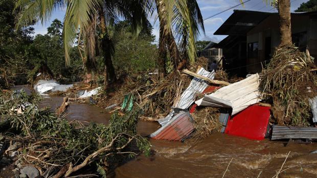Una zona de viviendas arrasada por el huracán