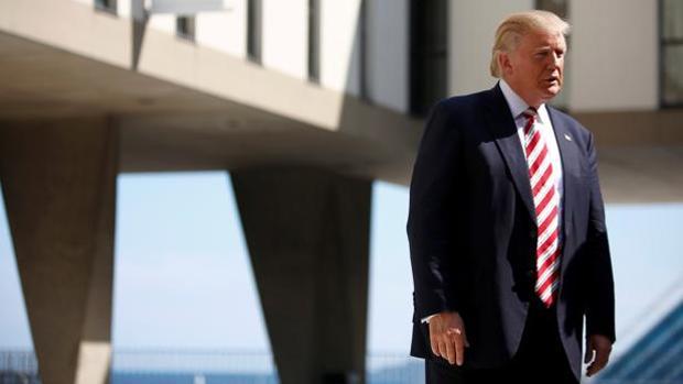 El candidato republicano Donald Trump, durante una visita la semana pasada al memoral de guerra de Milwaukee, en Wisconsin