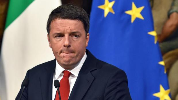 Matteo Renzi, en una rueda de prensa este lunes