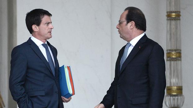 Manuel Valls y François Hollande, el pasado mes de junio