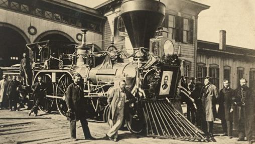 El tren que recorrió la geografía estadounidense con los restos mortles de Abraham Lincoln