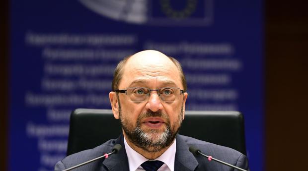 Martin Schulz, durante una sesión del Parlamento Europeo, este miércoles en Bruselas