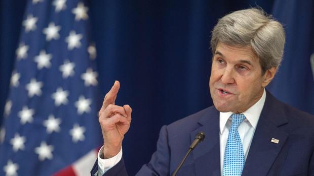 John Kerry, durante el discurso