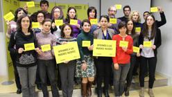 Nareen Shammo en la sede de Amnistía Internacional en Madrid