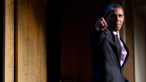 Obama, tras una intervención en el Senado en 2010