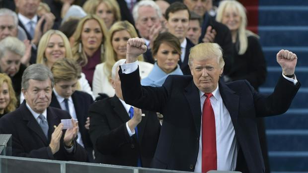 El presidente de Estados Unidos, Donald Trump, durante su ceremonia de investidura el pasado 20 de enero