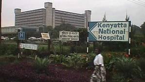Vista del hospital público más grande de Kenia