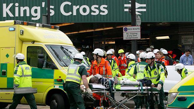 Imagen del atentado en Londres, en julio de 2005