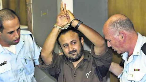 Fotografía archivo de Marwan Barghouti, durante el juicio en el que fue condenado por cinco asesinatos, en mayo de 2004