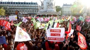Asistentes al mitin del pasado miércoles en París