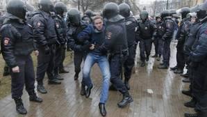 Protestas en San Petersburgo