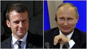 Putin y Macron hablan de terrorismo y Ucrania en su primer contacto