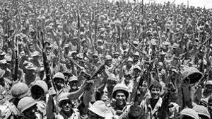 Soldados israelíes celebran su victoria en la Guerra de los Seis Días