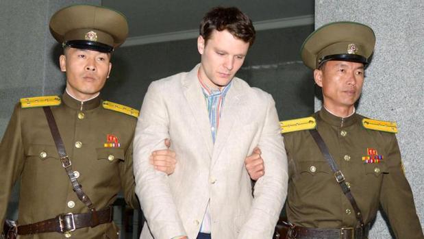 Otto Warmbier, en el momento de su detención por parte de las autoridades norcoreanas