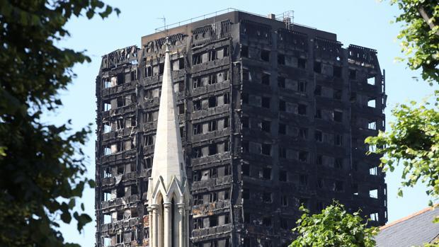 Estado en el que quedó el edificio tras el incendio