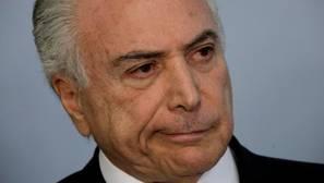 Michel Temer, este martes durante una rueda de prensa en el Palacio de Planalto