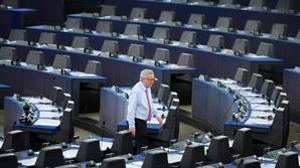 Jean-Claude Juncker en la sede de la Eurocámara