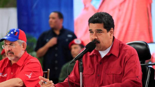 El presidente de Venezuela, Nicolás Maduro, durante una intervención