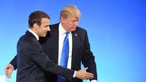 El presidente de Estados Unidos, Donald Trump, y su homólogo francés, Emmanuel Macron