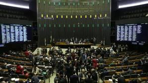 Imagen general del pleno de diputados de la cámara baja que decidirá el futuro de Temer