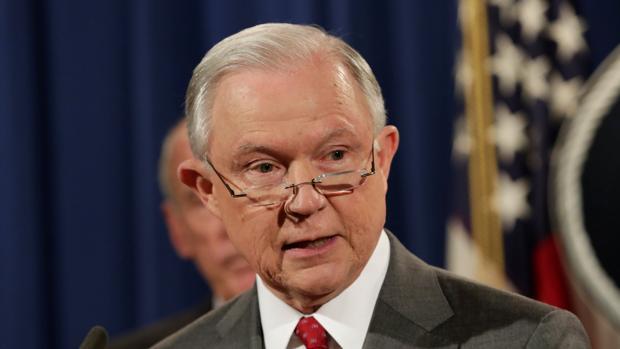 El fiscal general de EE.UU, Jeff Sessions
