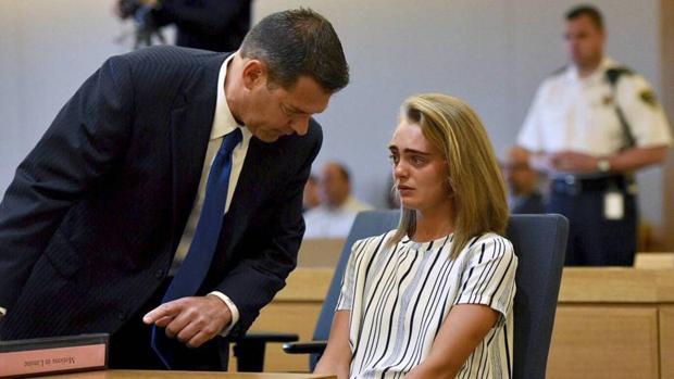 Michelle Carter, durante el juicio