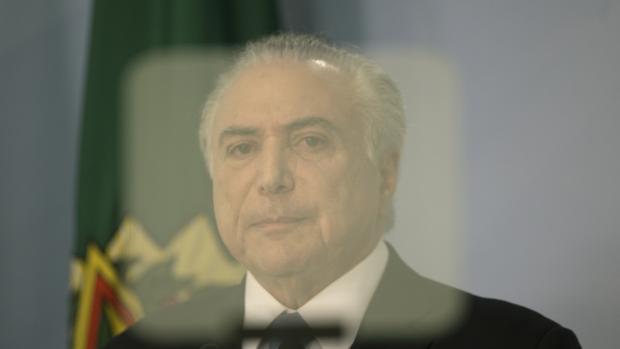El presidente de Brasil, Michel Temer, en una imagen de este miércoles