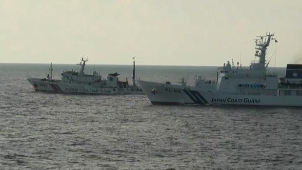 Buques japoneses patrullan las aguas de las islas Senkaku