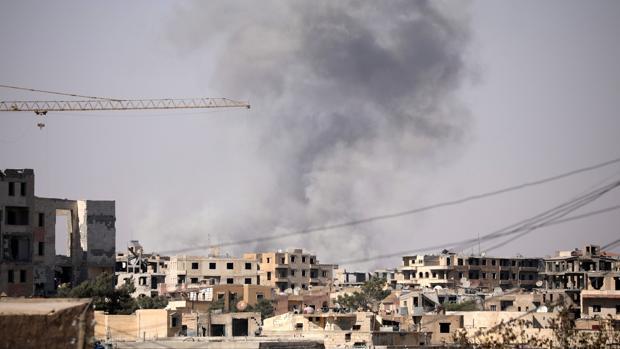 Bombardeos sobre la ciudad de Raqqa