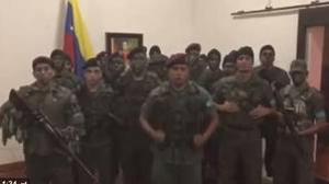 El grupo de sublevados, encabezado por el capitán Juan Caguaripano